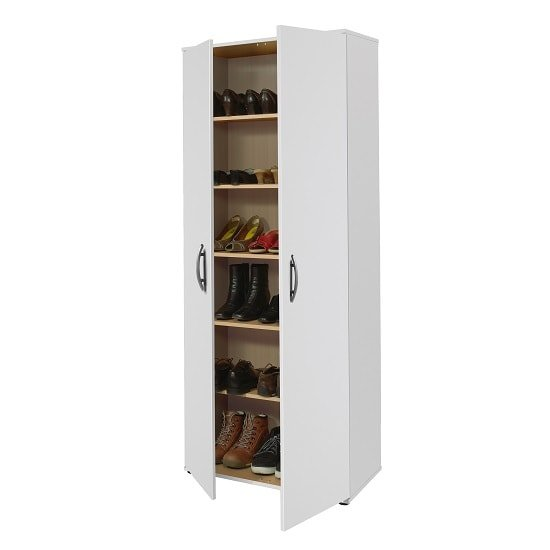 Carla Multifunctional Cupboard In White With 2 Doors