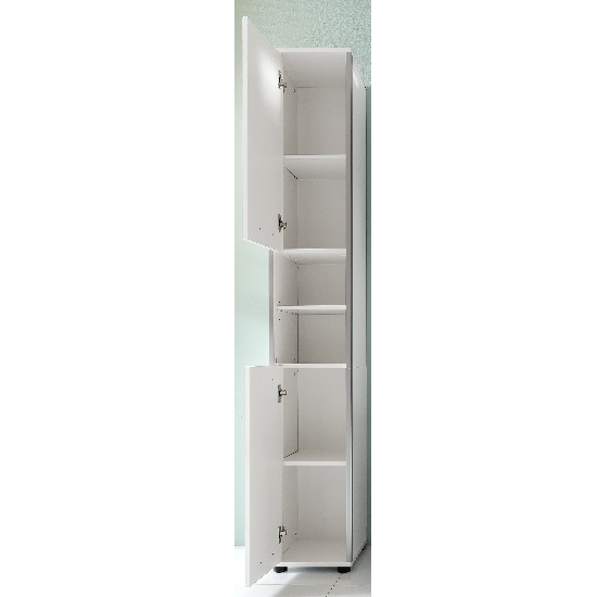 bathroom cabinets carla left bathroom cabinet in white with high gloss