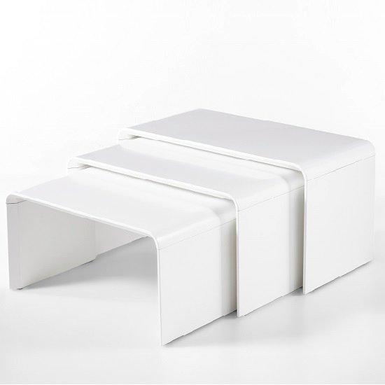 Carlene Wooden Nest Of Tables In Matt White_2