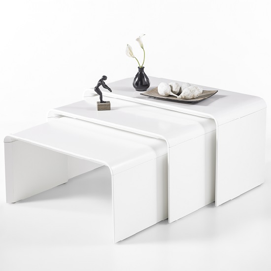 Carlene Wooden Nest Of Tables In Matt White_3