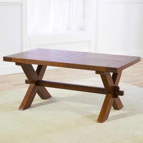 Carlotta Wooden Coffee Table Rectangular In Dark Oak