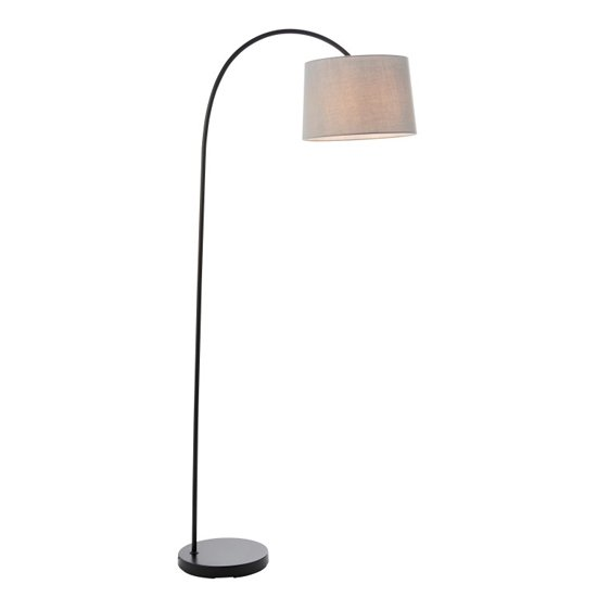 Carlson Floor Lamp With Black Metal Stand