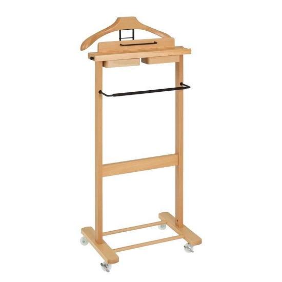 Carly Wooden Mens Valet Stand In Beech 30915 Furniture In