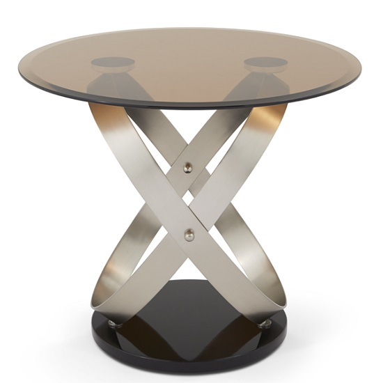 Carmela Glass Lamp Table In Smoke With Satin And Nickel Base_3