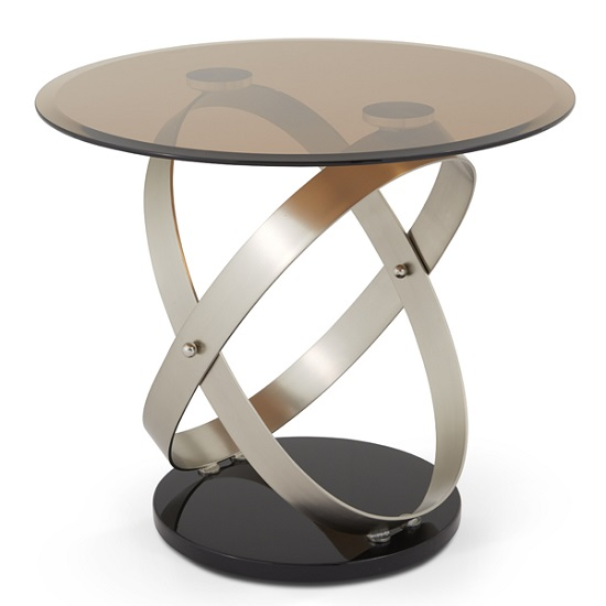 Carmela Glass Lamp Table In Smoke With Satin And Nickel Base_4