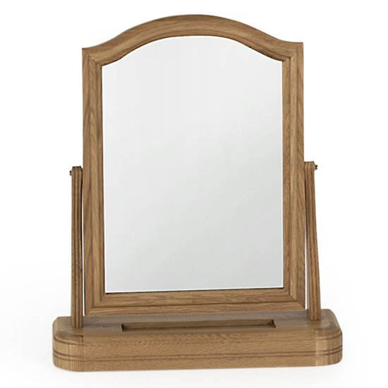 Carmen Dressing Mirror In Natural Wooden Frame