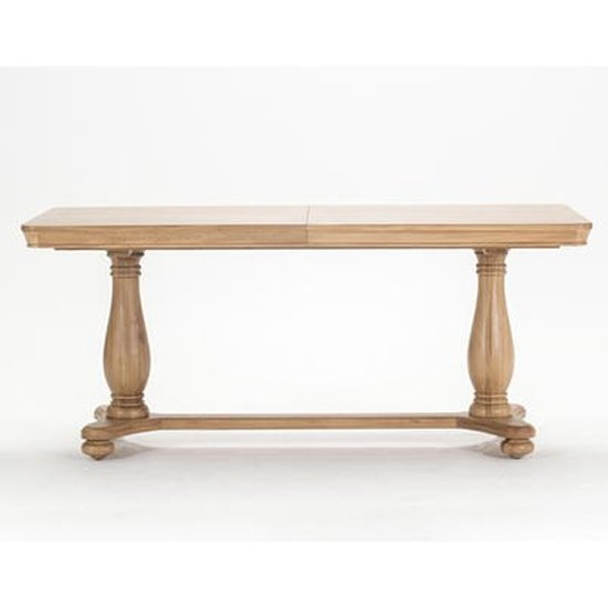 View Carmen extending wooden dining table in natural