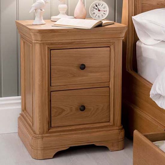 Carmen Wooden Bedside Table In Natural