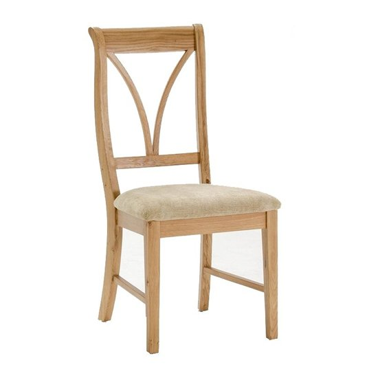 Carmen Wooden Dining Chair In Natural