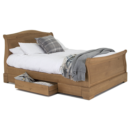 Carmen Wooden King Size Bed In Natural_2