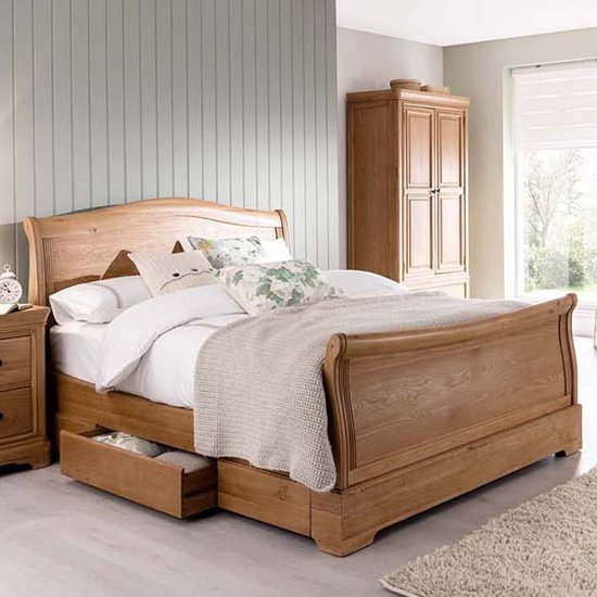 Carmen Wooden King Size Bed In Natural_1