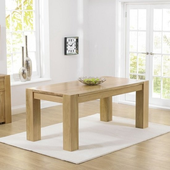 Carnell Wooden Dining Table Rectangular In Solid Oak