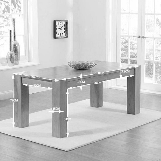 Carnell Wooden Dining Table Rectangular In Solid Oak_3