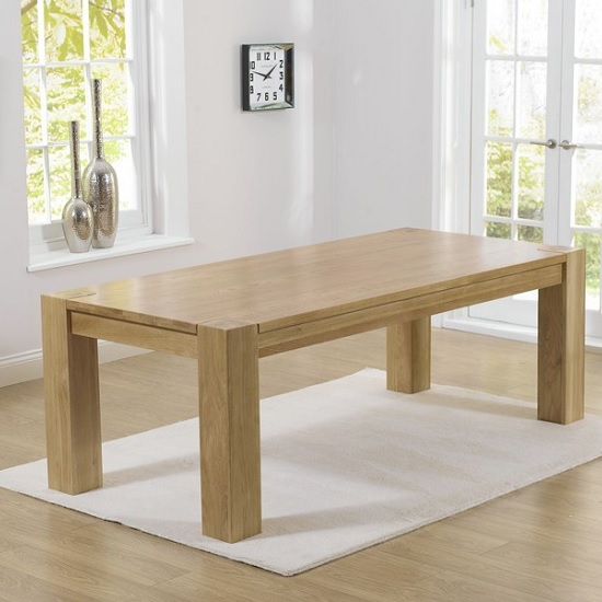 Carnell Wooden Extra Large Dining Table Rectangular In Solid Oak