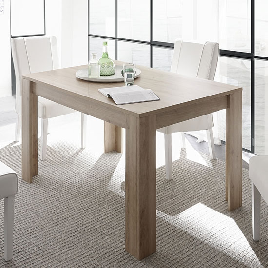 Carney Contemporary Dining Table Rectangular In Cadiz Oak
