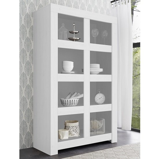 Carney Contemporary Bookcase In Matt White