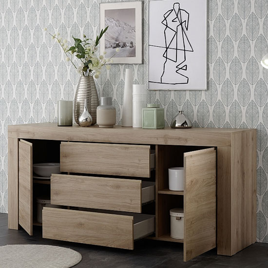 Carney Sideboard In Cadiz Oak With 2 Doors And 3 Drawers_2