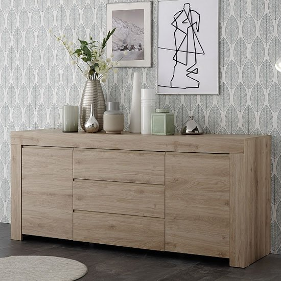 Carney Sideboard In Cadiz Oak With 2 Doors And 3 Drawers
