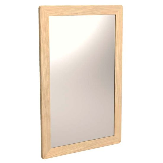 Carnial Wall Bedroom Mirror In Blond Solid Oak Frame