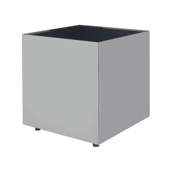 Carolex Square Black Glass Side Table With Chrome Base