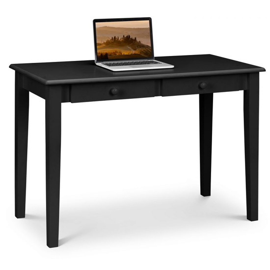 Carrington Wooden Laptop Desk In Black
