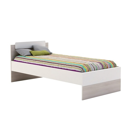 Carson Wooden Children Single Bed In Acacia And Pearl White