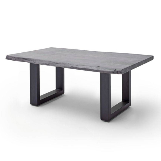 Cartagena Large Coffee Table In Grey With Anthracite Legs