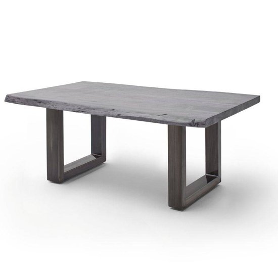 Cartagena Large Coffee Table In Grey With Antique Legs
