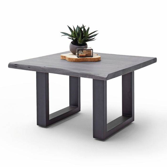 Cartagena Wooden Coffee Table In Grey With Anthracite Legs