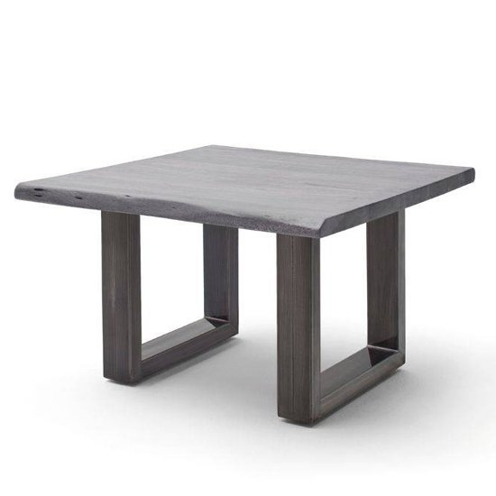 Cartagena Wooden Coffee Table In Grey With Antique Legs