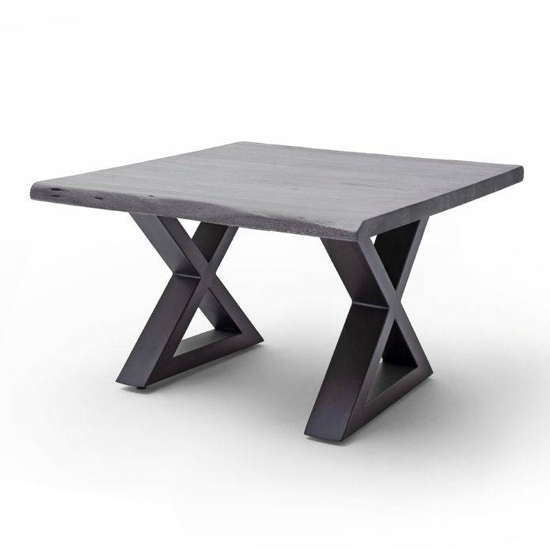 Cartagena X-Shape Coffee Table In Grey With Anthracite Legs