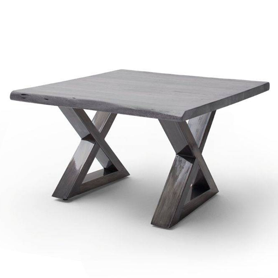 Cartagena X-Shape Coffee Table In Grey With Antique Legs
