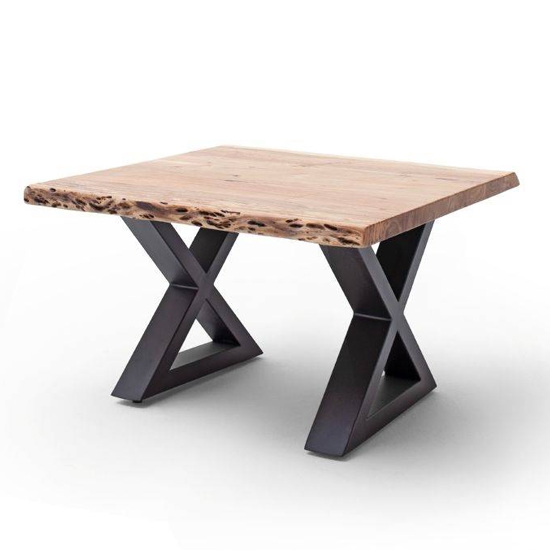 Cartagena X-Shape Coffee Table In Walnut With Anthracite Legs