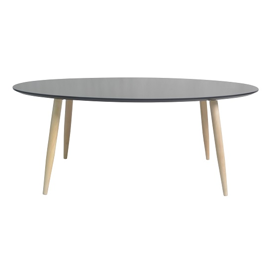 Carter Wooden Coffee Table Oval In Black
