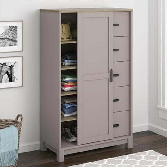 Carver Gentlemans Chest Of Drawers In Grey And Weathered Oak_2