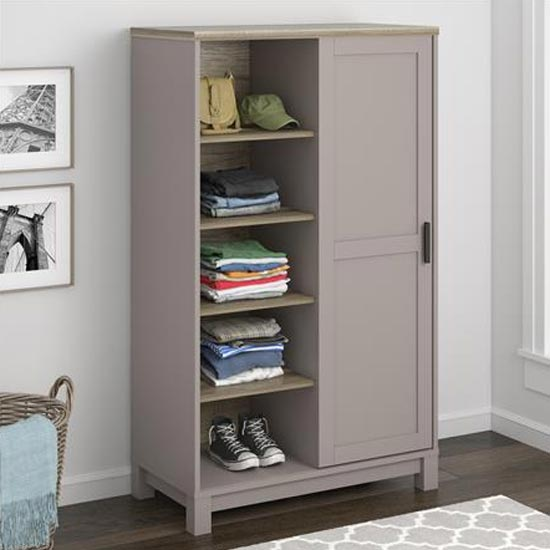 Carver Gentlemans Chest Of Drawers In Grey And Weathered Oak_3