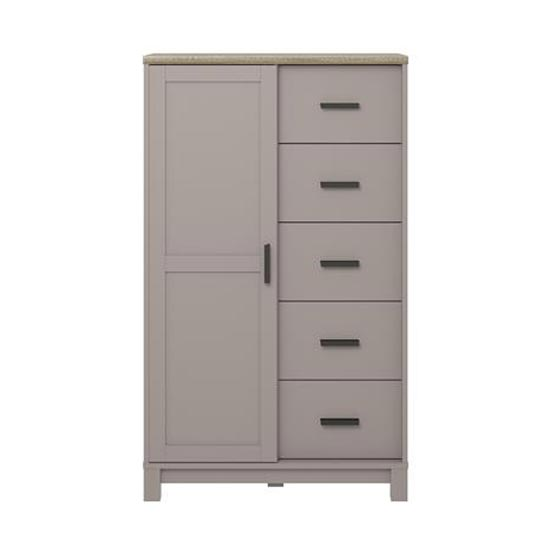 Carver Gentlemans Chest Of Drawers In Grey And Weathered Oak_4
