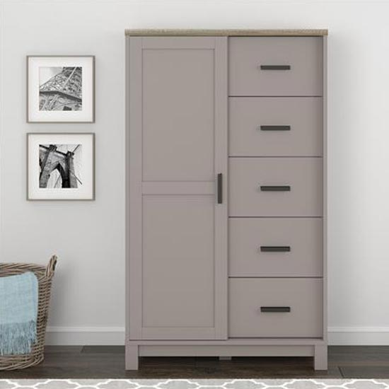 Carver Gentlemans Chest Of Drawers In Grey And Weathered Oak_1