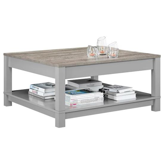 Carver Wooden Coffee Table In Grey And Weathered Oak_2