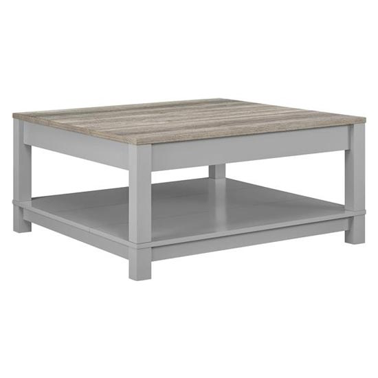 Carver Wooden Coffee Table In Grey And Weathered Oak_3