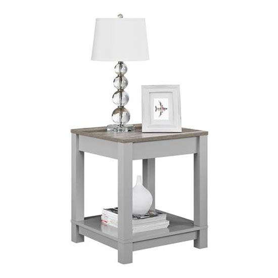 Carver Wooden End Table In Grey And Weathered Oak_2