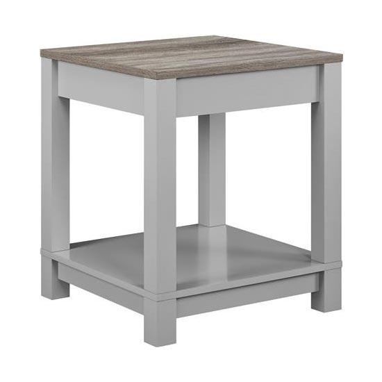 Carver Wooden End Table In Grey And Weathered Oak_3