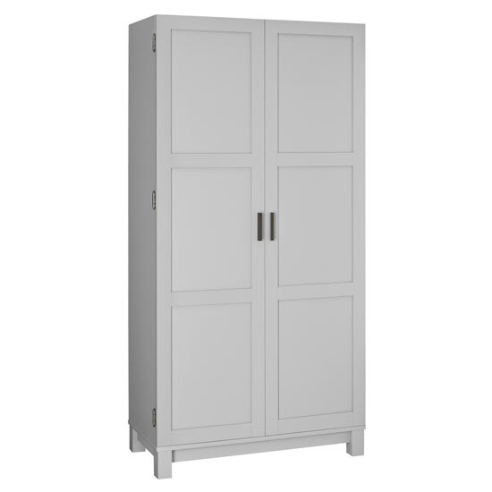 Carver Wooden Storage Cabinet In Grey And Weathered Oak_3