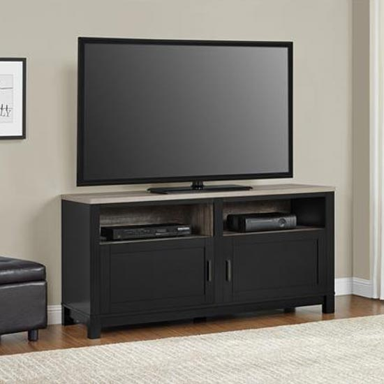 Carver Wooden TV Stand In Black