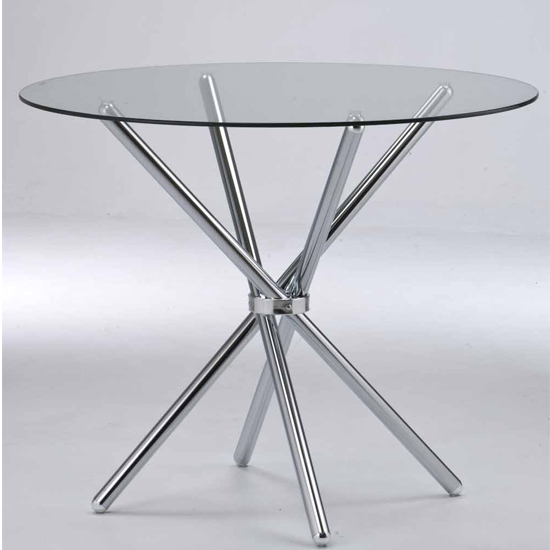 Casa Glass Dining Table With Chrome Legs