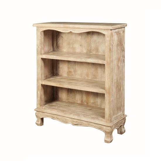 Crofton Bookcase In Acacia Wood With Shelves