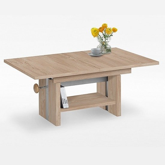 Caspian Extendable Coffee Table In Oak Tree With Lift Function