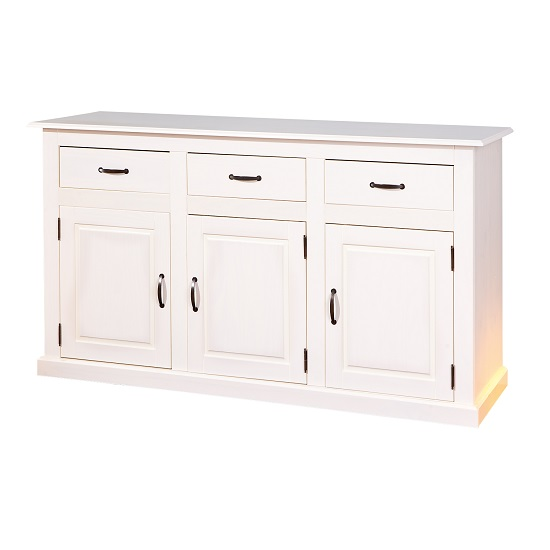 Cassala3 White Wooden SideBoard With 3 Drawers And 3 Door_1