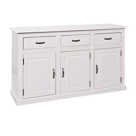 Cassala3 White Wooden SideBoard With 3 Drawers And 3 Door_2