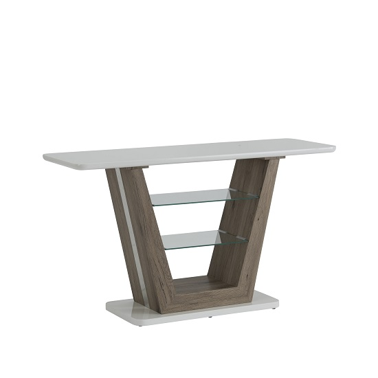 Cassie Console Table Rectangular In White High Gloss